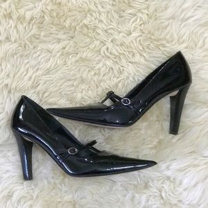 Circa Joan & David Patent Leather Black Heels